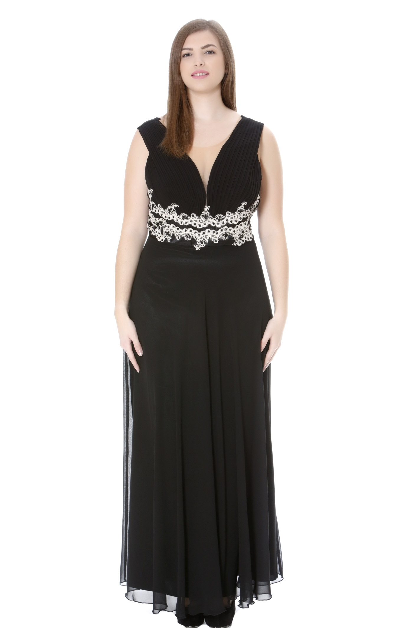 Φόρεμα maxi με πλισέ μπούστο 19b69a330e7