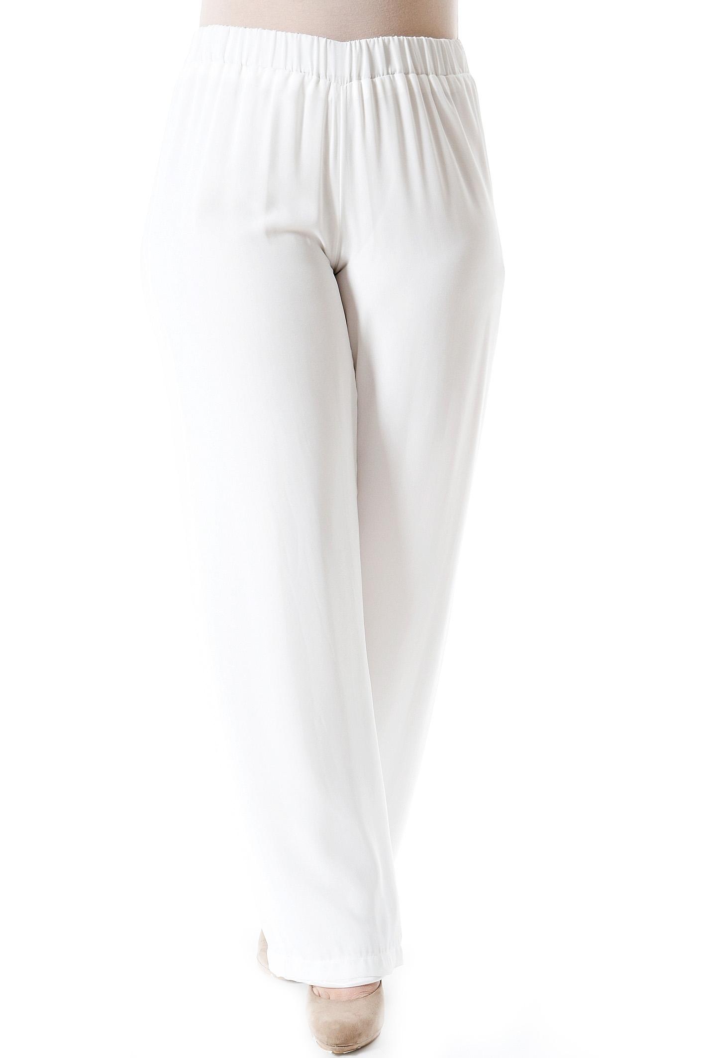 Παντελόνα διπλή ζορζέτα εκρού νέες αφίξεις   ενδύματα   παντελόνια   κολάν   siderati   brands