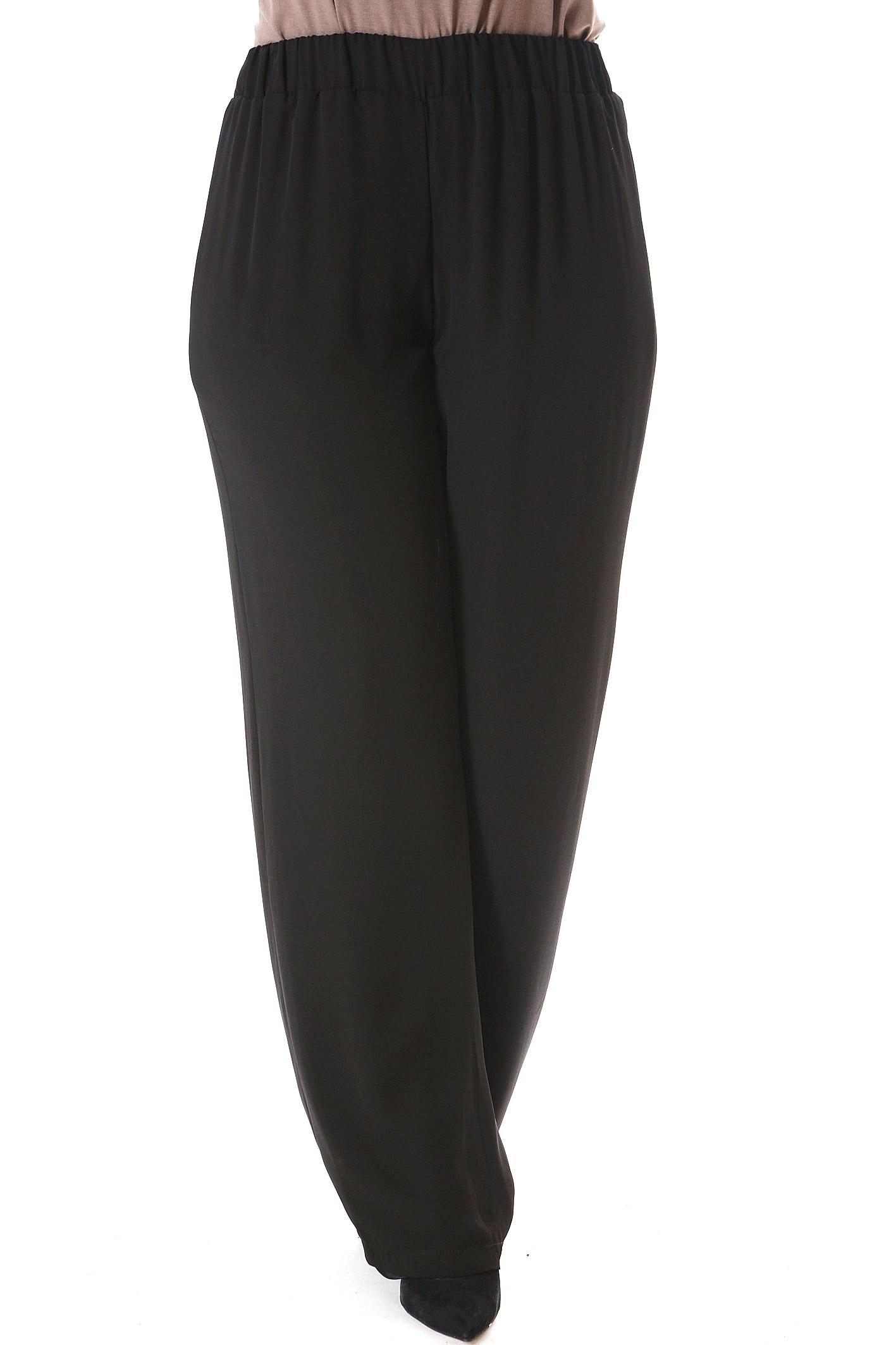 Παντελόνα διπλή ζορζέτα μαύρο νέες αφίξεις   ενδύματα   παντελόνια   κολάν   siderati   brands