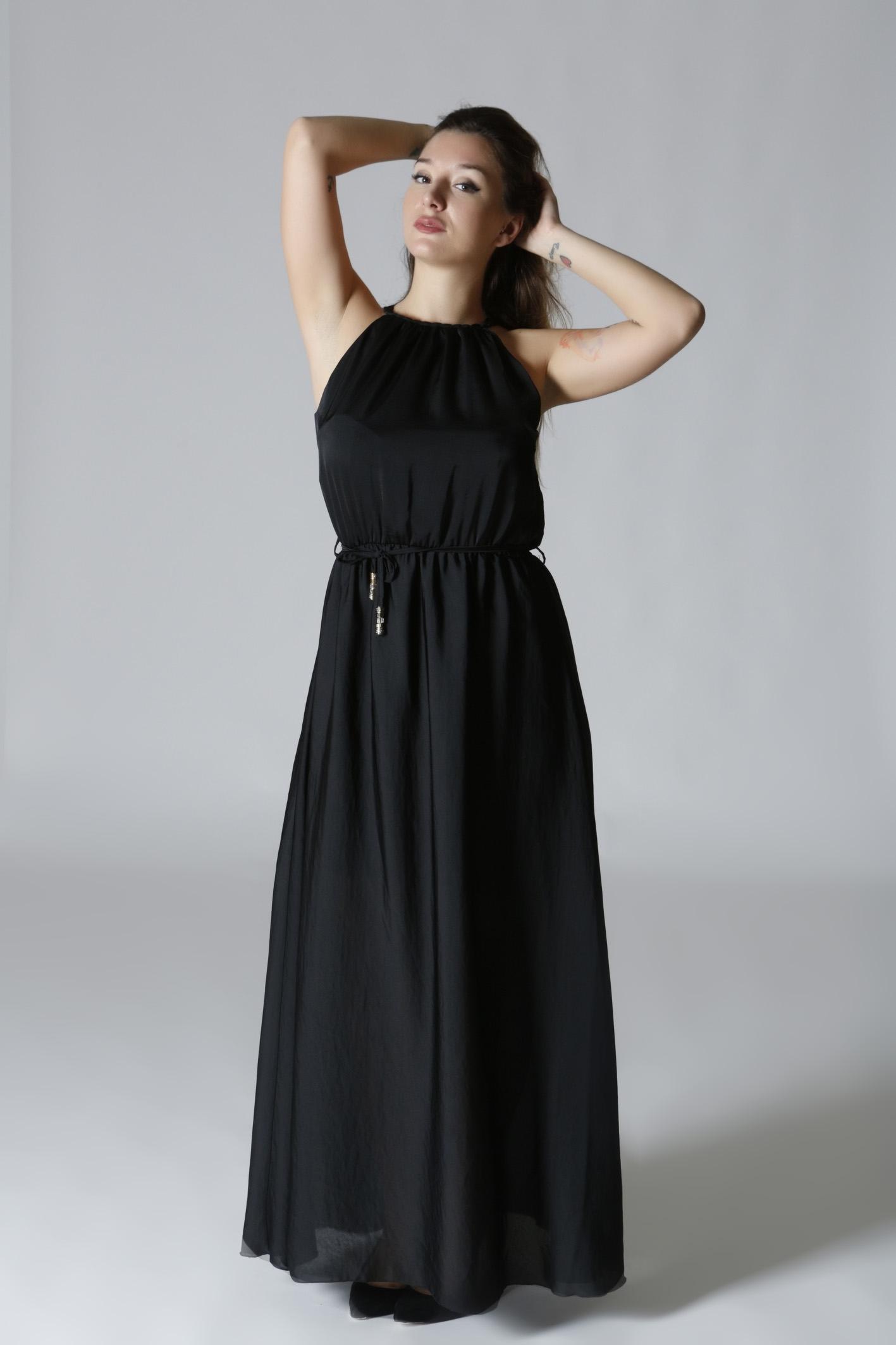 375e49e41cd2 Maxi φόρεμα μαύρο