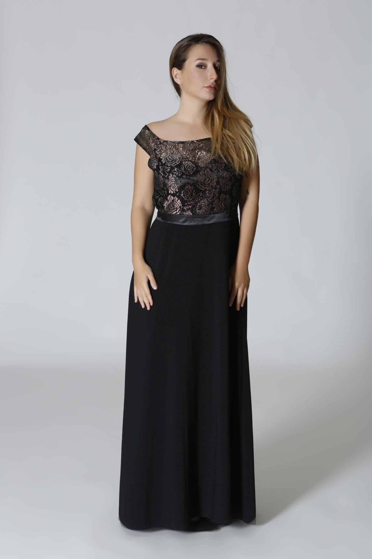 46718ff572ca Maxi φόρεμα δαντέλα μαύρο