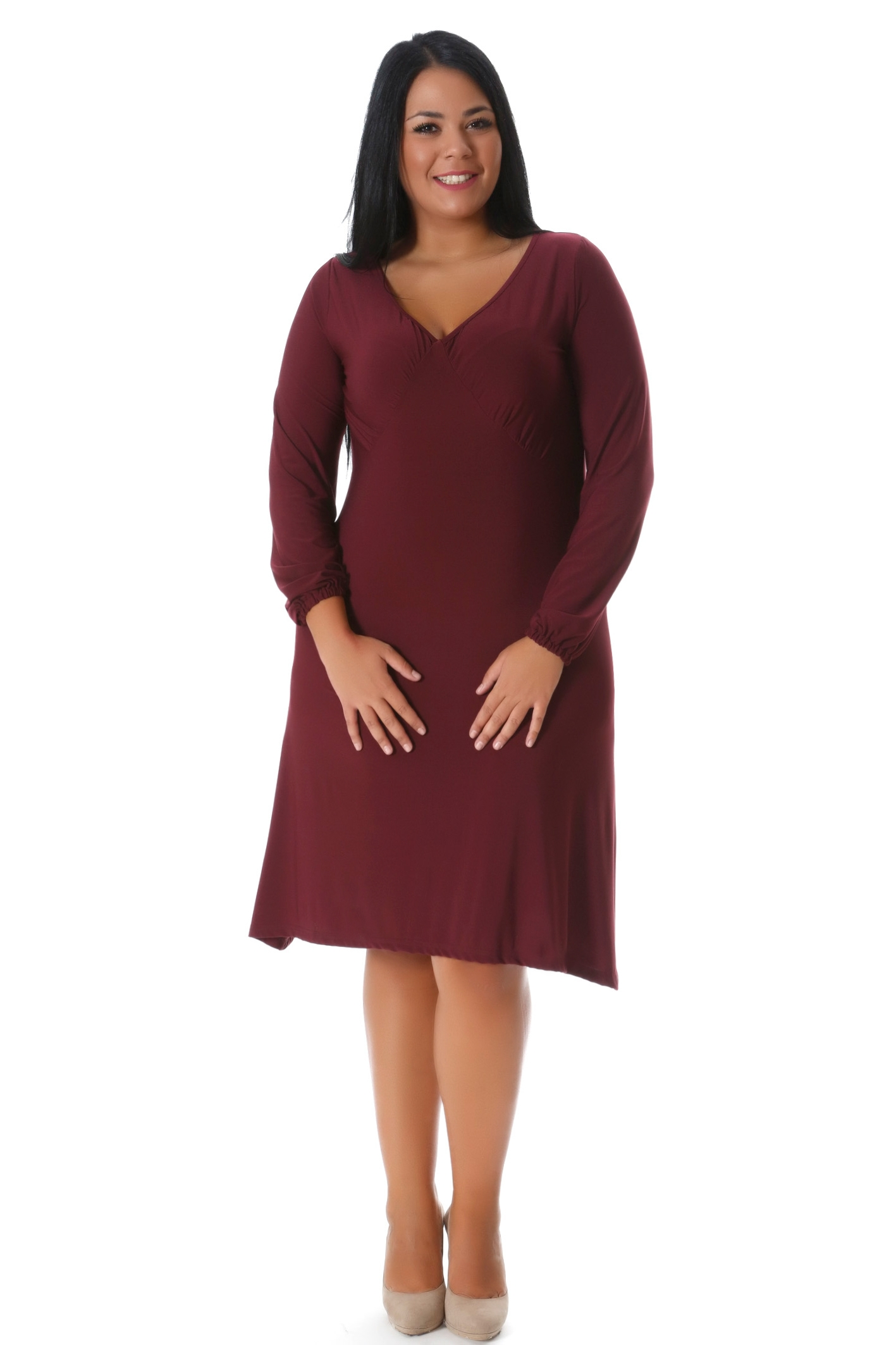 Midi φόρεμα μπορντώ νέες αφίξεις   ενδύματα   φορέματα   sunrose   brands