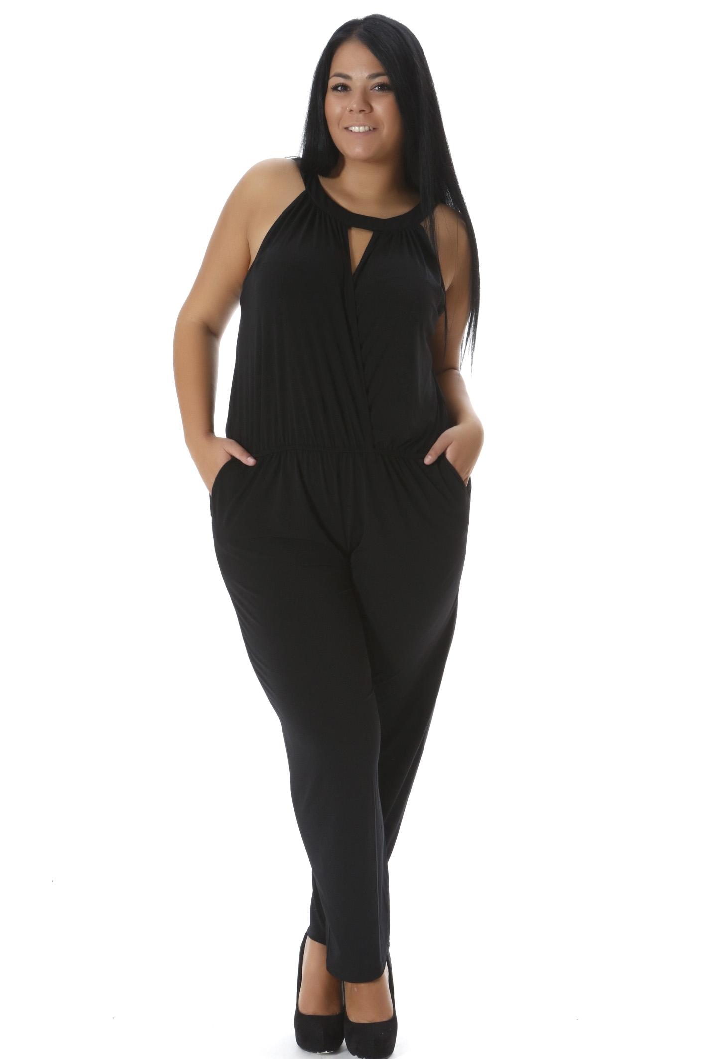 Ολόσωμη φόρμα κρουαζέ μαύρη νέες αφίξεις   ενδύματα   φορέματα