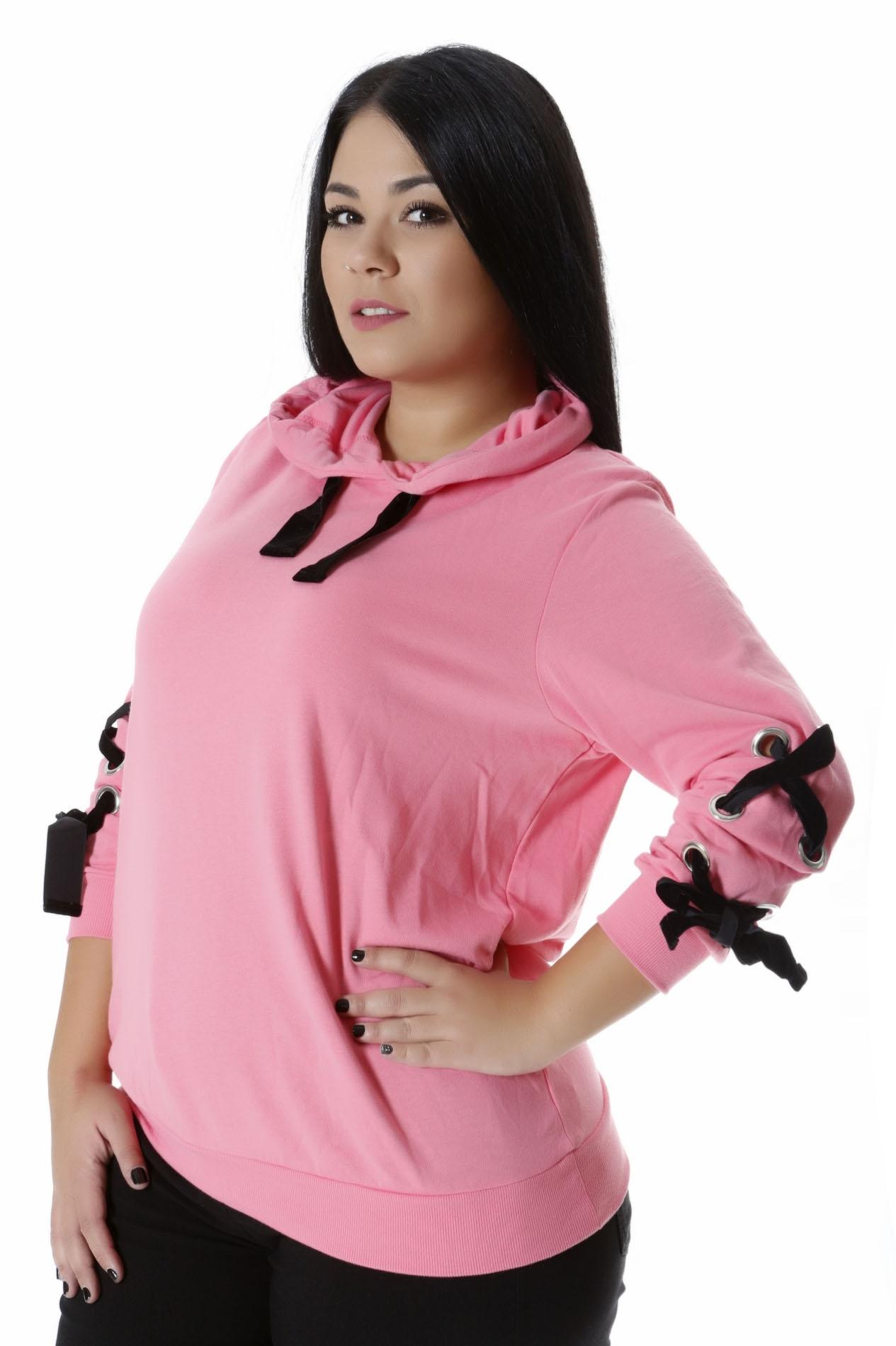 Μπλούζα φούτερ ροζ νέες αφίξεις   ενδύματα   μπλούζες   zizzi   brands
