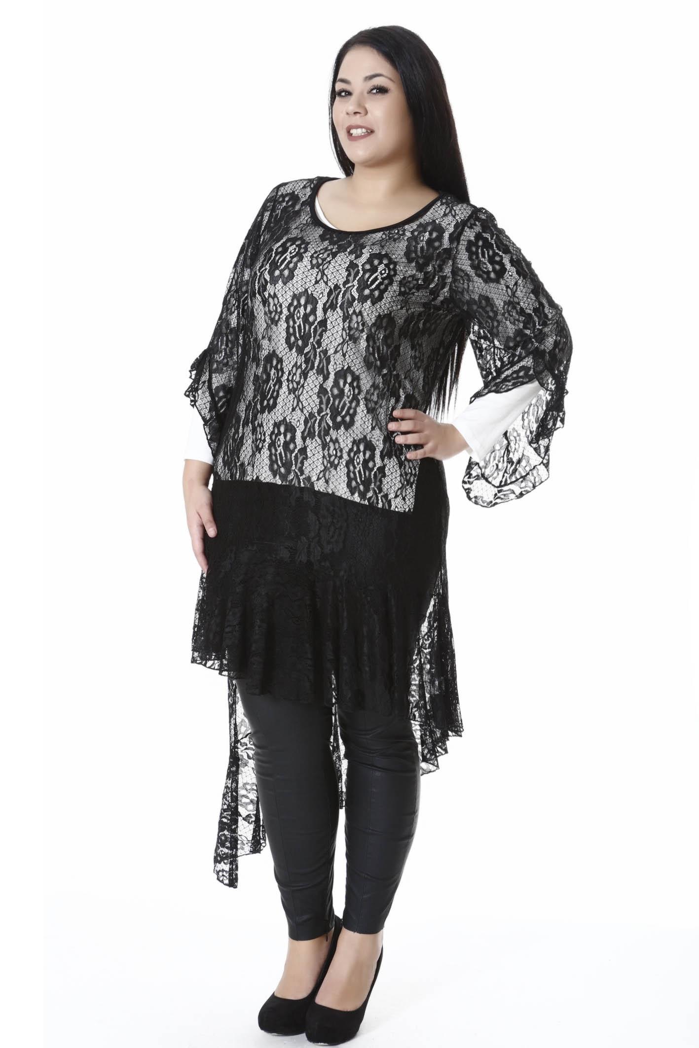 Τουνίκ δαντέλα μαύρη νέες αφίξεις   ενδύματα   μπλουζοφορέματα   sunrose   brands