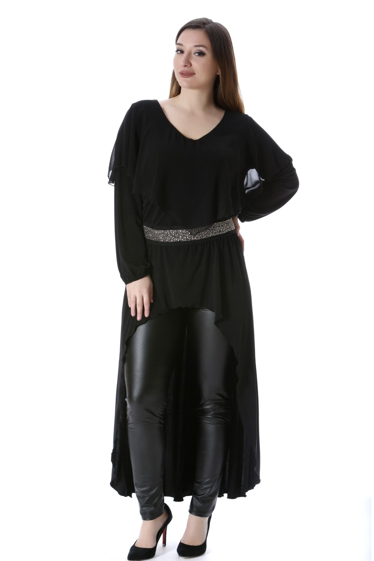 Ασύμμετρη τουνίκ μαύρη νέες αφίξεις   ενδύματα   μπλουζοφορέματα   sunrose   brands