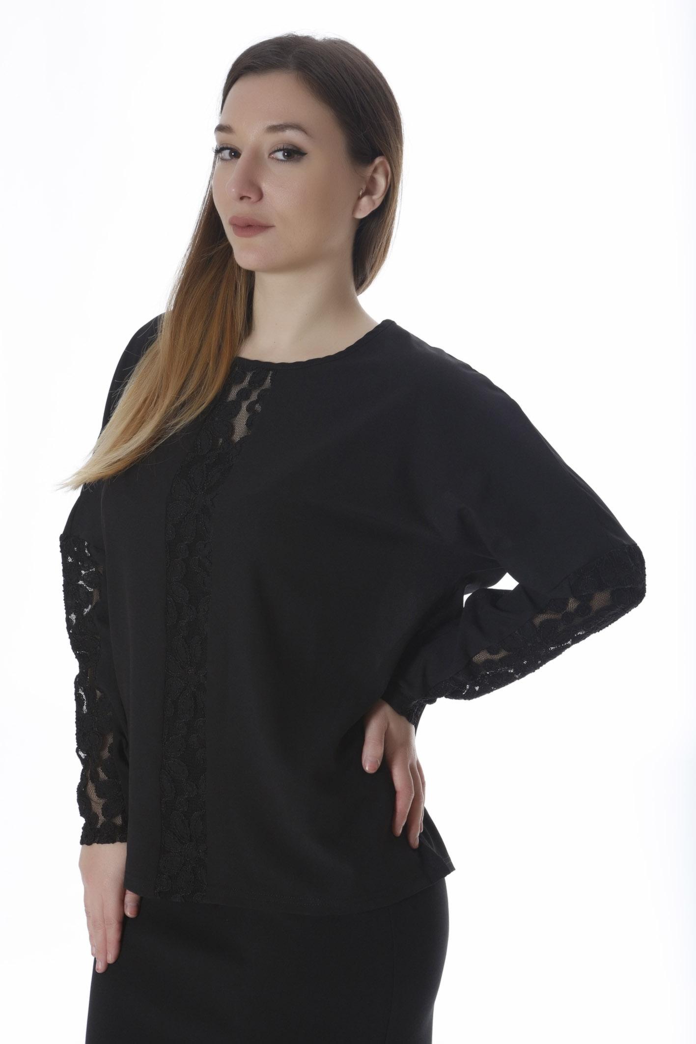 Μαύρη μπλούζα με δαντέλα κατά μήκος νέες αφίξεις   ενδύματα   μπλούζες   sunrose