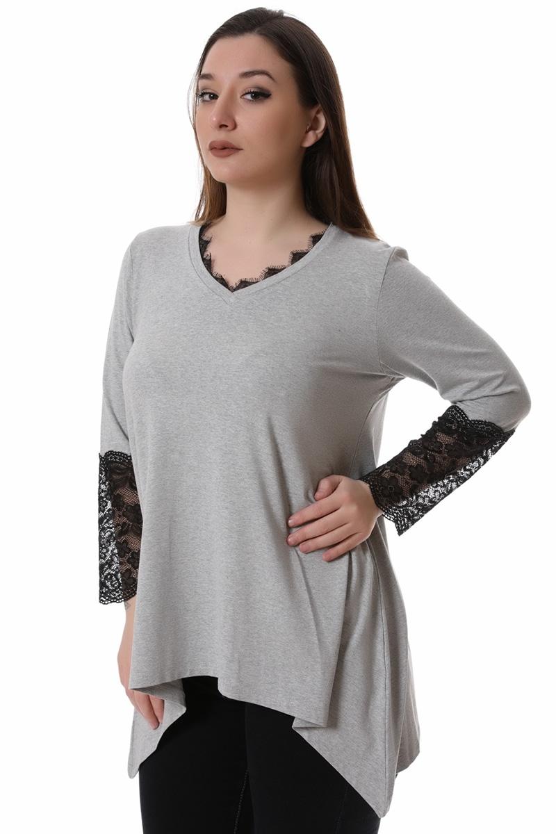 Μπλούζα με μύτες γκρι νέες αφίξεις   ενδύματα   μπλούζες   sunrose