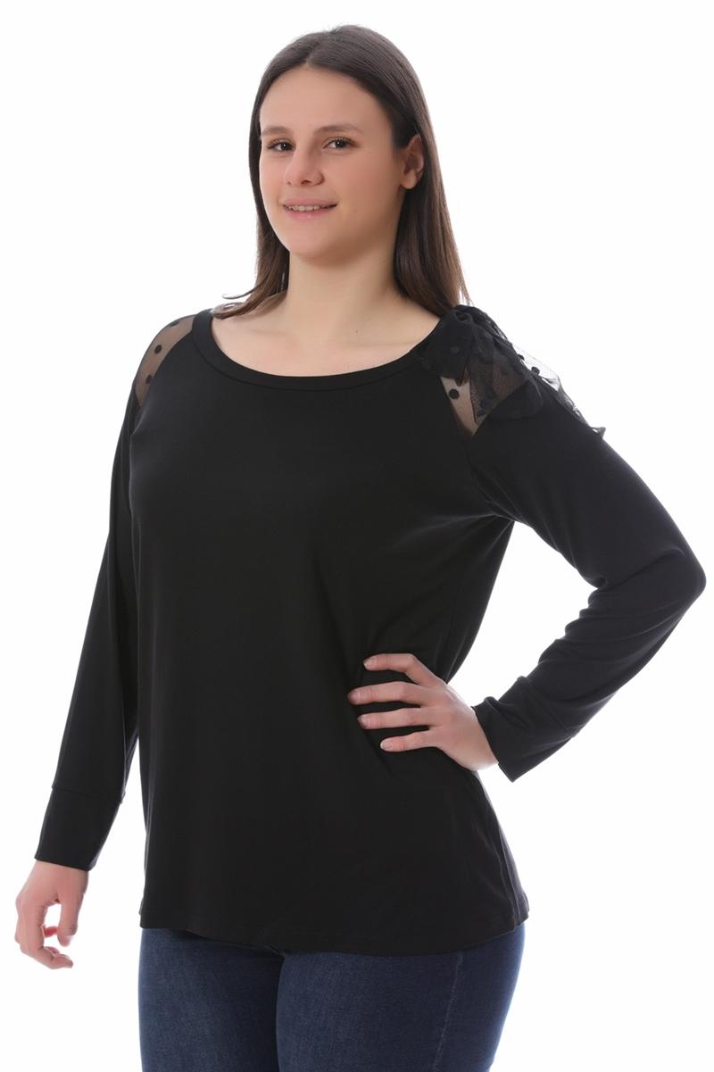 Μπλούζα με διαφάνεια μαύρη νέες αφίξεις   ενδύματα   μπλούζες   sunrose