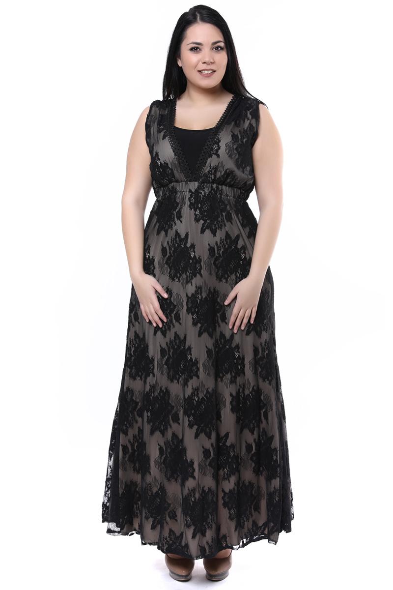 Maxi φόρεμα δαντέλα μαύρο νέες αφίξεις   ενδύματα   demi φορέματα   brands   siderati   φορέματα