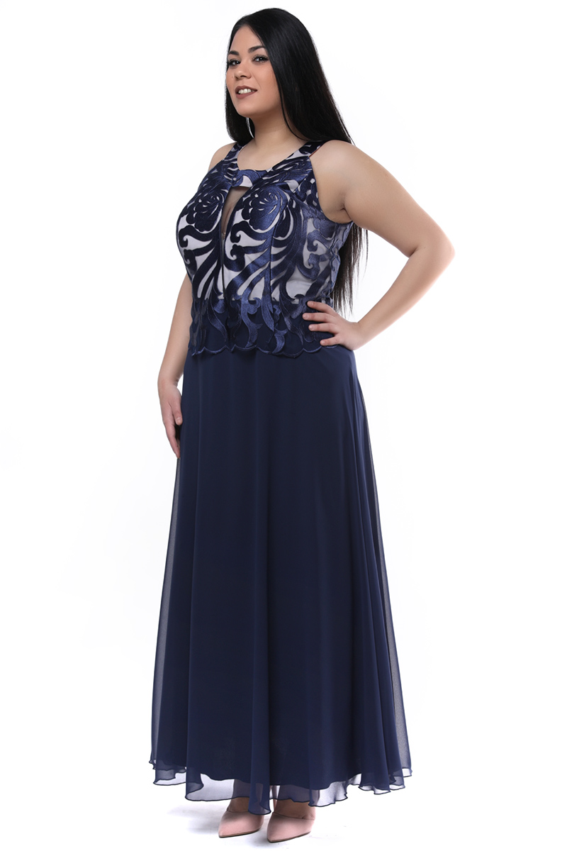 Maxi φόρεμα σατέν μπούστο ροζ/μπλε νέες αφίξεις   ενδύματα   βραδινά