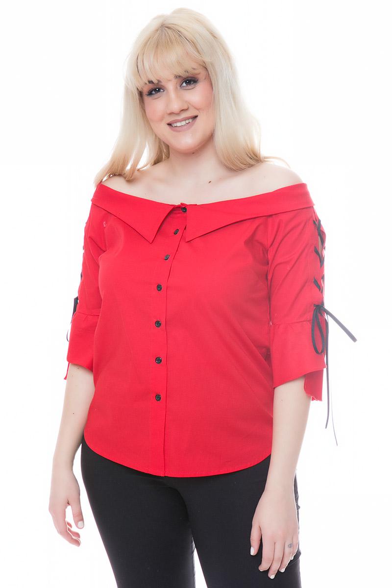 Πουκάμισο off-shoulders Χρώμα κόκκινο Διαθέτει τελείωμα τύπου γιακά Μακριά μανίκια με μανσέτες Ίσια γραμμή με καμπύλες στο τελείωμα Σταθερό ύφασμα Σύνθεση97%COT 3%SP Η γραμμή είναι κανονική - Συμβουλευτείτε το μεγεθολόγιο.Κατάλληλο για all-day chic εμφανίσεις!Διαθέσιμα μεγέθη από S έως 3XL.Το μοντέλο έχει ύψος 1.75cm και φοράει μέγεθος S.