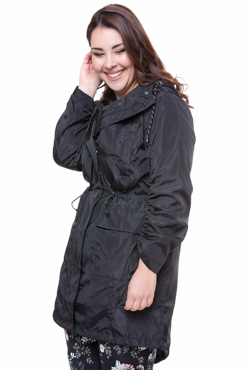 008cb32c2c29 Αδιάβροχο παρκά Μαύρο χρώμα Τσέπες Φερμουάρ και τρουκς για κλείσιμο Κουκούλα  ενσωματωμένη Μακριά μανίκια με λάστιχο
