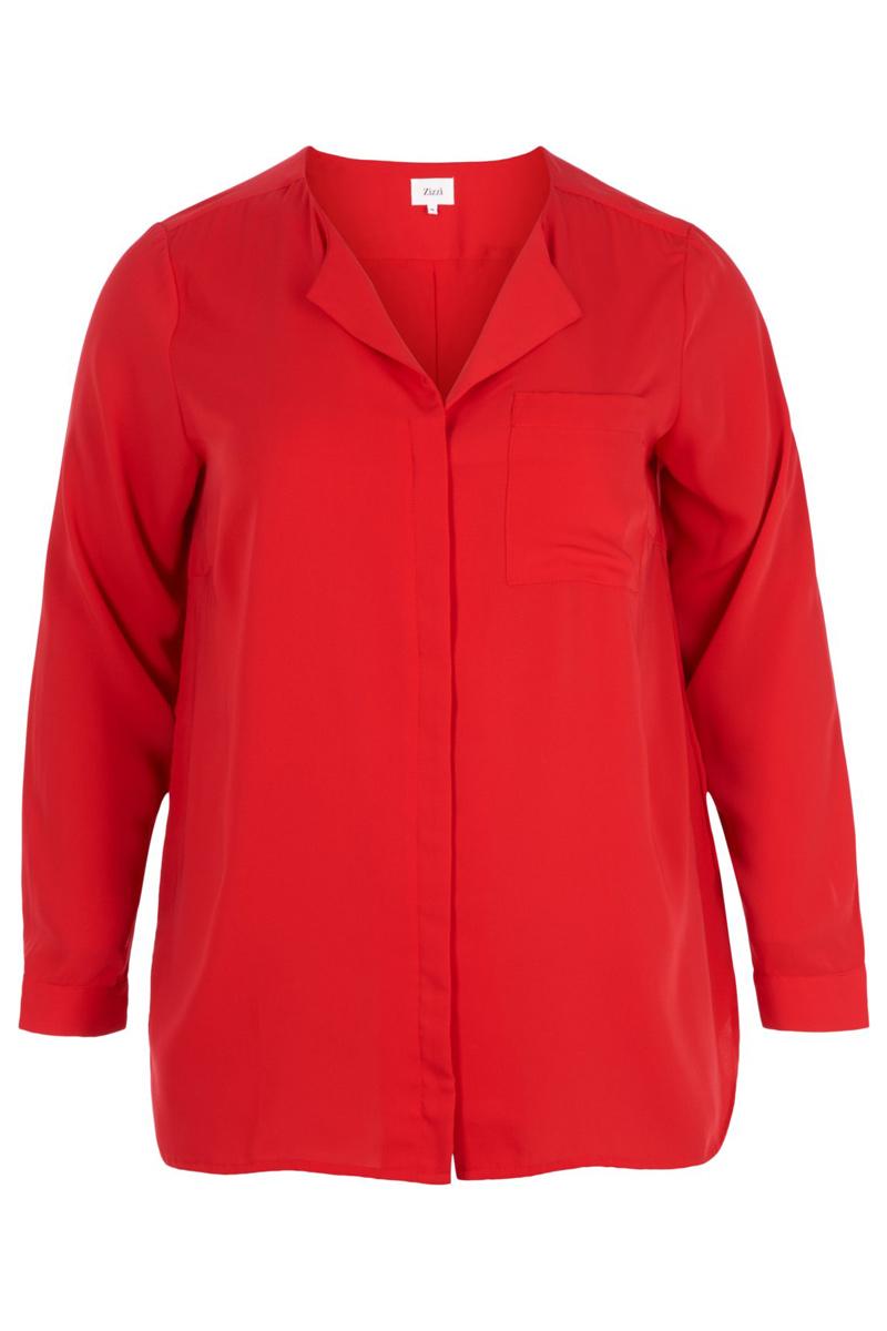 Πουκάμισο Χρώμα κόκκινο Μακριά μανίκια V λαιμόκοψη Ασύμμετρη γραμμή με το πίσω μέρος να είναι πιο μακρύ Σταθερό ύφασμα Σύνθεση 100%POL Η γραμμή είναι κανονική - Συμβουλευτείτε το μεγεθολόγιο.Κατάλληλο για chic αέρινες εμφανίσεις!Διαθέσιμα μεγέθη από S έως XL.Το μοντέλο έχει ύψος 1.75cm και φοράει μέγεθος S.
