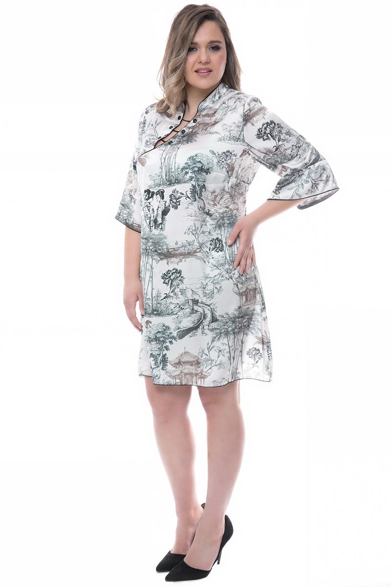 697e81c89593 Pre order Midi φόρεμα Λευκό χρώμα 3 4 μανίκια Σε ίσια γραμμή Το ύφασμα του