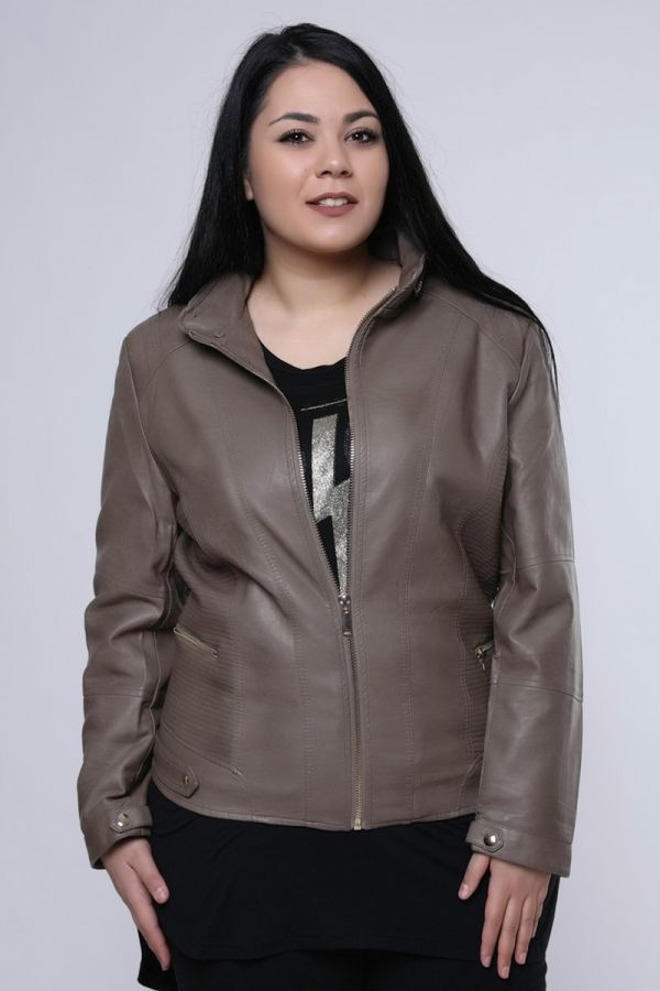 Leather-like jacket πούρο