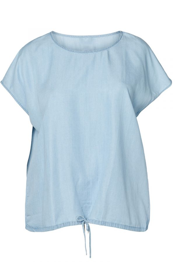 Jean t-shirt σε denim light blue χρώμα