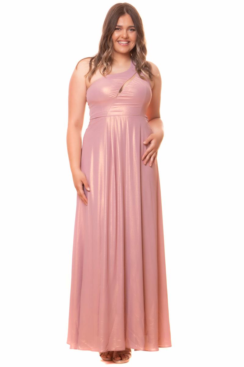 Φόρεμα Maxi Σε χρώμα ροζ-μεταλιζέ Με τιράντα στον ένα ώμο που χωρίζεται στο πίσω μέρος Διαθέτει διαφάνεια στο μπούστο Με κρυφό φερμουάρ στο πίσω μέρος Ελαστικό ύφασμα Άλφα γραμμή Η γραμμή είναι κανονική - επιλέξτε το κανονικό σας μέγεθος. Διαθέσιμα μεγέθη από Μ έως ΧXL. Το μοντέλο έχει ύψος 1.75cm και φοράει μέγεθος Μ. Επικοινωνήστε μαζί μας, τηλεφωνικά ή με e-mail, για τις ακριβείς διαστάσεις και τις λεπτομέρειες που αφορούν το βραδινό φόρεμα που σας ενδιαφέρει, ώστε να ολοκληρώσετε την παραγγελία σας.