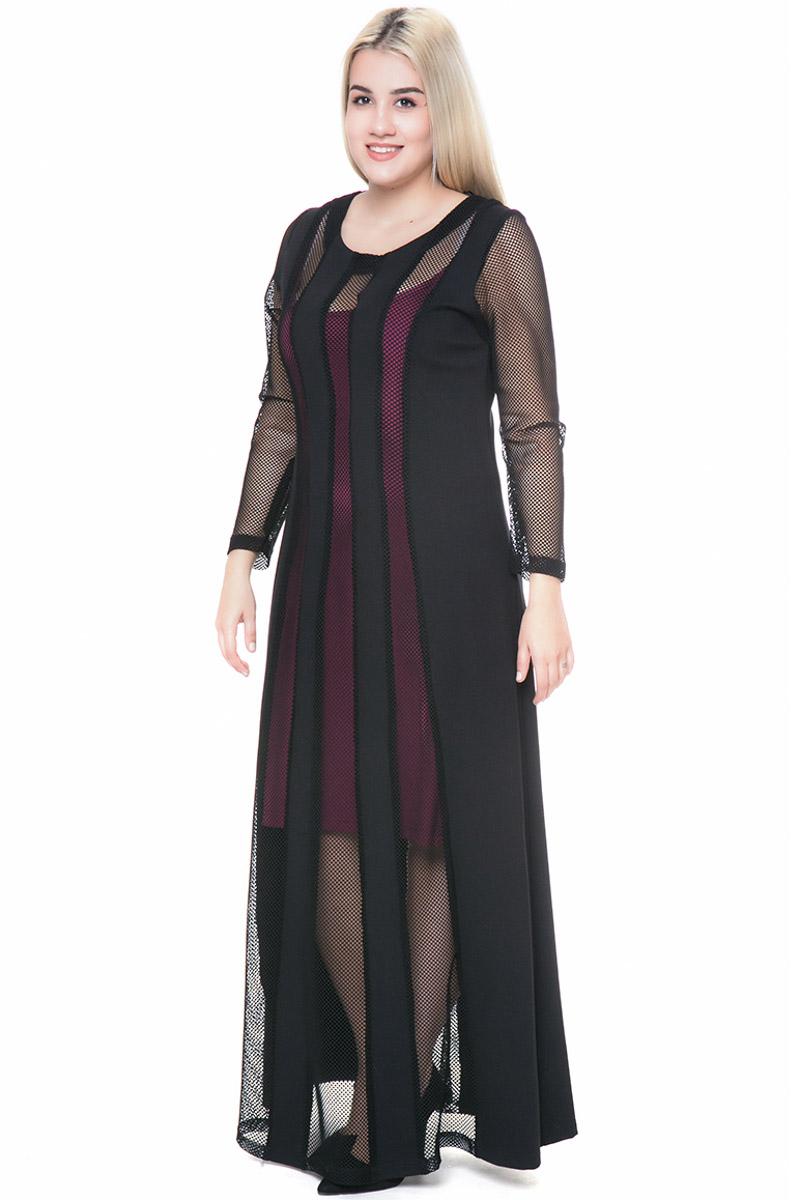 a8b9b5c27142 Maxi φόρεμα με fishnet λεπτομέρειες σε μαύρο χρώμα
