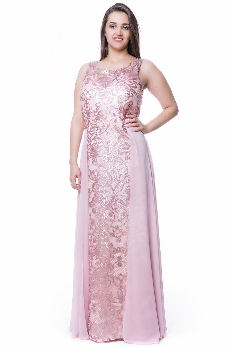 6a3affd7a6bb Maxi φόρεμα παγέτα σε ροζ χρώμα