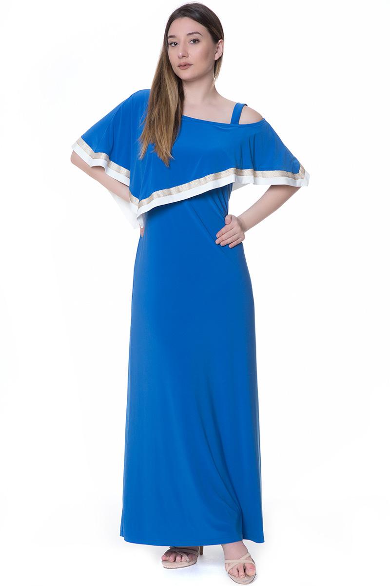 7c5edf80382f Maxi φόρεμα με ριγέ λεπτομέρειες ρουά