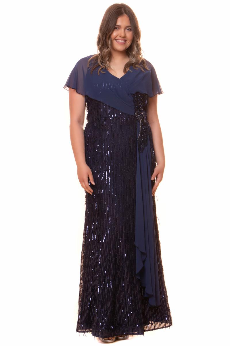 Φόρεμα Maxi Σε μπλε χρώμα V-λαιμόκοψη Κοντό μανίκι από τούλι σε στυλ πεταλούδα Ασημένιο κέντημα στο πλάϊ με τούλι να πέφτει Κρυφό φερμουάρ στο πίσω μέρος Ίσια γραμμή Σταθερό ύφασμα Η γραμμή είναι κανονική - επιλέξτε το κανονικό σας μέγεθος. Διαθέσιμα μεγέθη από 58 έως 64. Το μοντέλο έχει ύψος 1.75cm και φοράει μέγεθος 58. Επικοινωνήστε μαζί μας, τηλεφωνικά ή με e-mail, για τις ακριβείς διαστάσεις και τις λεπτομέρειες που αφορούν το βραδινό φόρεμα που σας ενδιαφέρει, ώστε να ολοκληρώσετε την παραγγελία σας.
