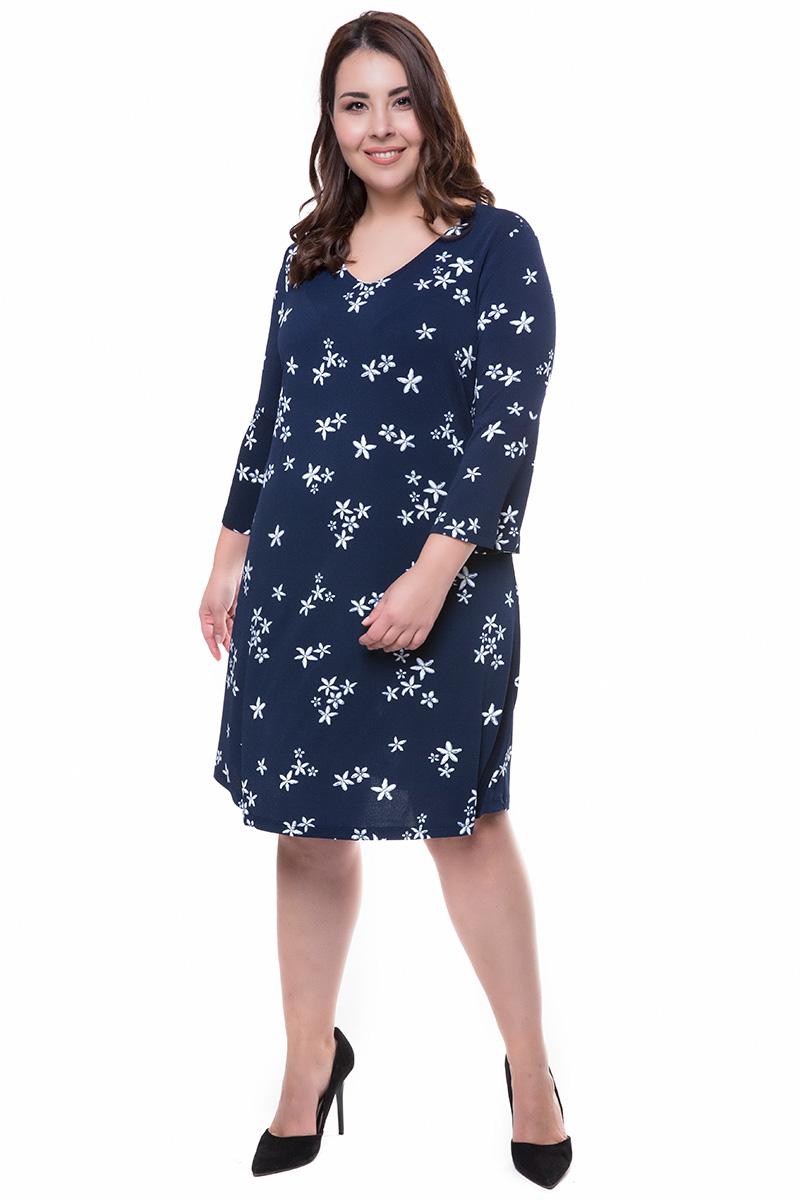 270b0b1b36e7 Μπλε midi φόρεμα με μαργαρίτες