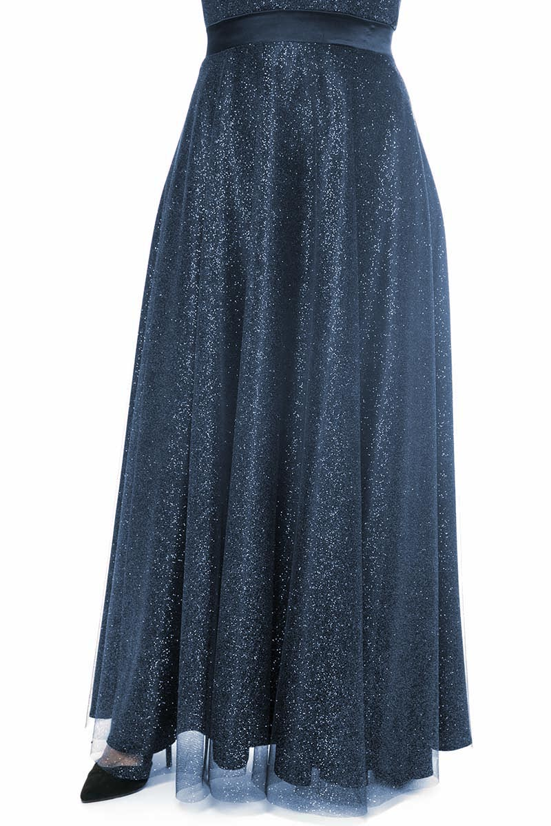 f1849a55e9cd Φούστα Μαύρο χρώμα Τούλι με glitter Εσωτερική φόδρα Maxi Φερμουάρ στο πίσω  μέρος Σταθερό ύφασμα Σύνθεση