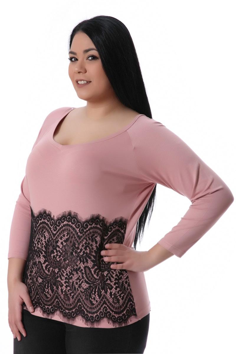 Μπλούζα με δαντέλα ροζ νέες αφίξεις   ενδύματα   μπλούζες   sunrose