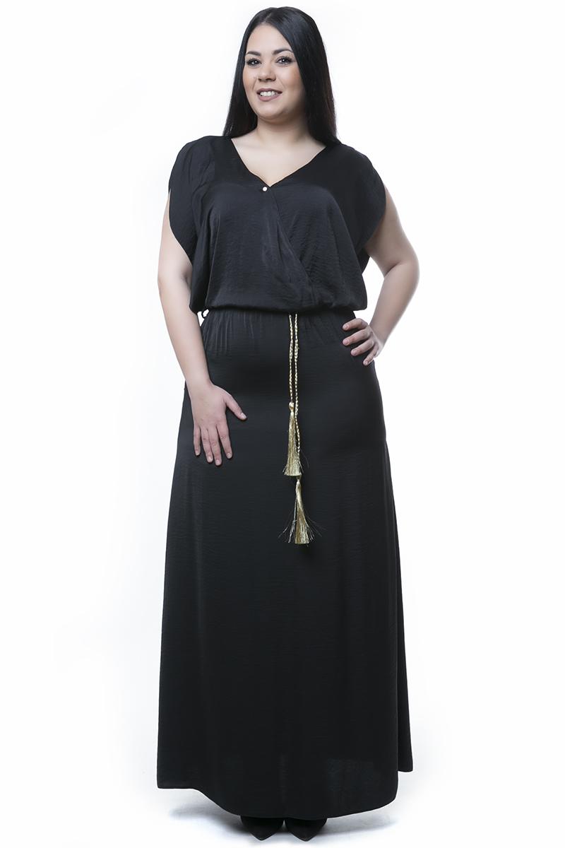 Φόρεμα maxi κρουαζέ νέες αφίξεις   ενδύματα   brands   bellino   φορέματα   demi φορέματα