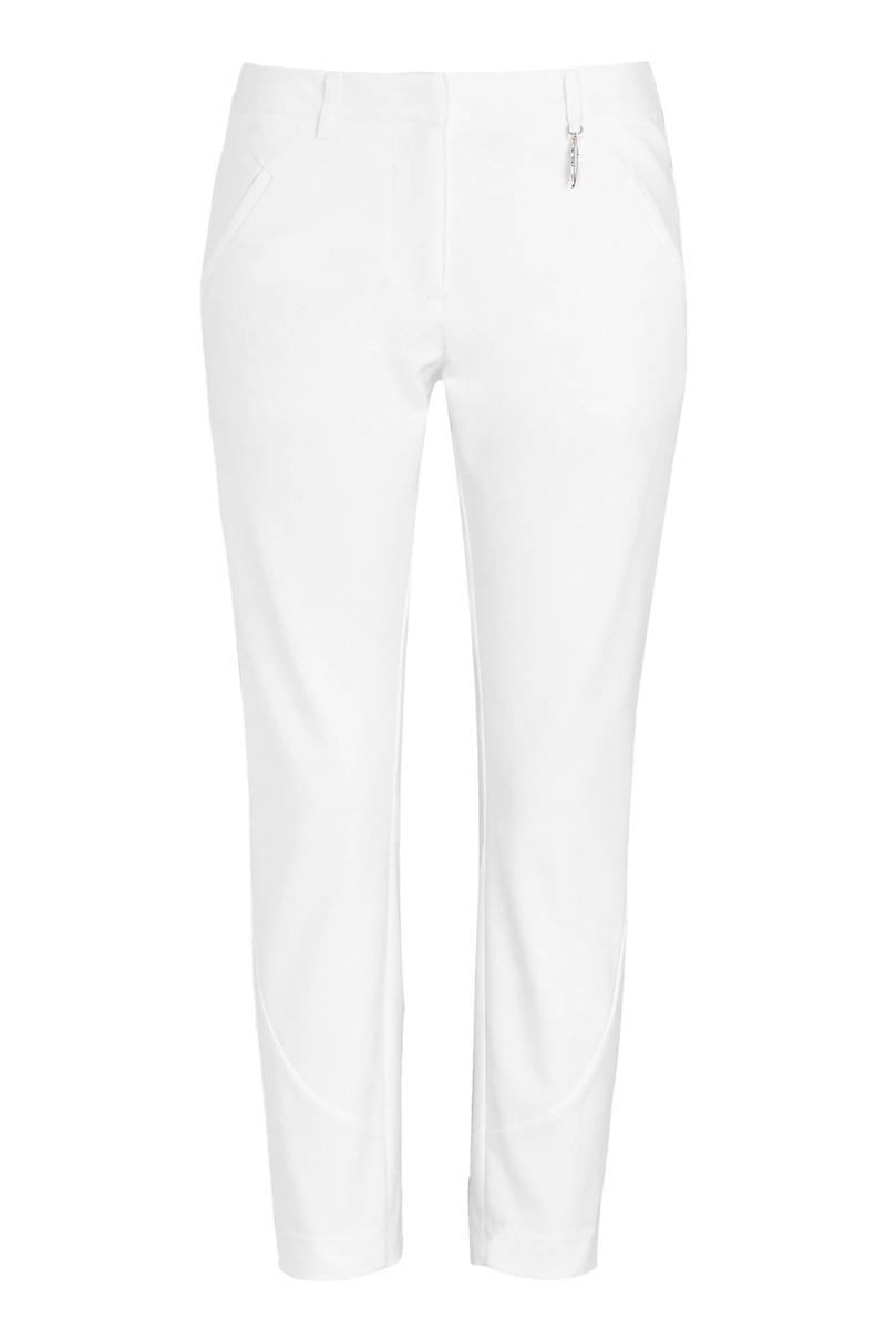 Παντελόνι Κάπρι Σε λευκό χρώμα Διαθέτει τσέπες στα πλαϊνά που κλείνουν με φερμουάρ Έχει φερμουάρ στην γάμπα Κλέινει με κουμπί και φερμουάρ Σταθερό ύφασμα Ίσια γραμμή Σύνθεση:48%POL 48%COT 4%EL Η γραμμή είναι κανονική. Συμβουλευετείτε το μεγεθολόγιο. Ιδανικό για ανοιξιάτικες all-day εμφανίσεις. Διαθέσιμα μεγέθη από 42 έως 58. Το μοντέλο έχει ύψος 1.75 και φοράει μέγεθος 42.