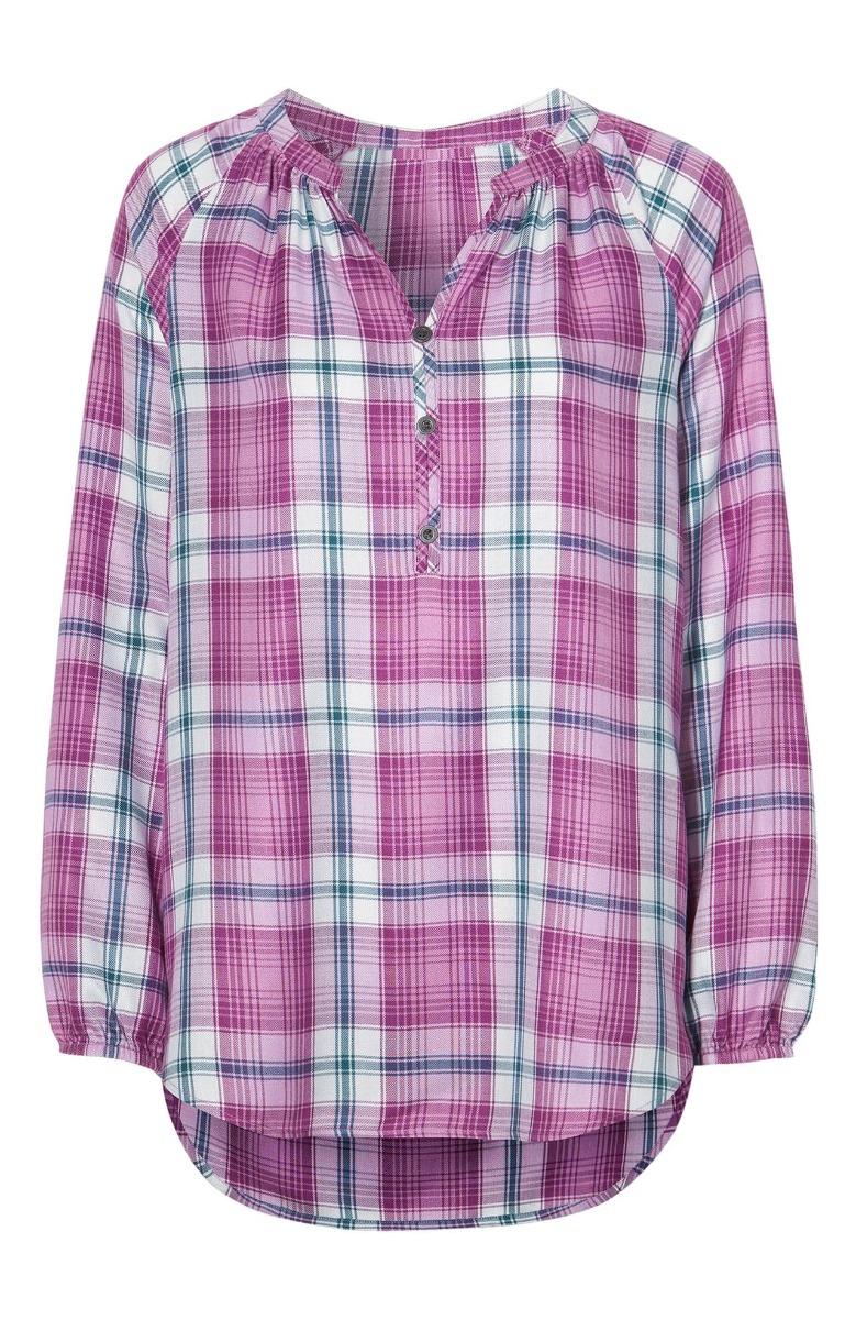Καρό πουκαμίσα Σε ροζ χρώμα Ανοιχτή λαιμόκοψη Μαο γιακάς Κουμπάκια στο μπούστο Μακρύ balloonμανίκι Ίσια γραμμή Σταθερό ύφασμα Σύνθεση : 100% VIS Η γραμμή είναι κανονική - Συμβουλευτείτε το μεγεθολόγιο. Κατάλληλο για όλες τις ώρες και περιστάσεις. Διαθέσιμα μεγέθη από 38/40 έως 62/64 Το μοντέλο έχει ύψος 1.75cm και φοράει μέγεθος 38/40.