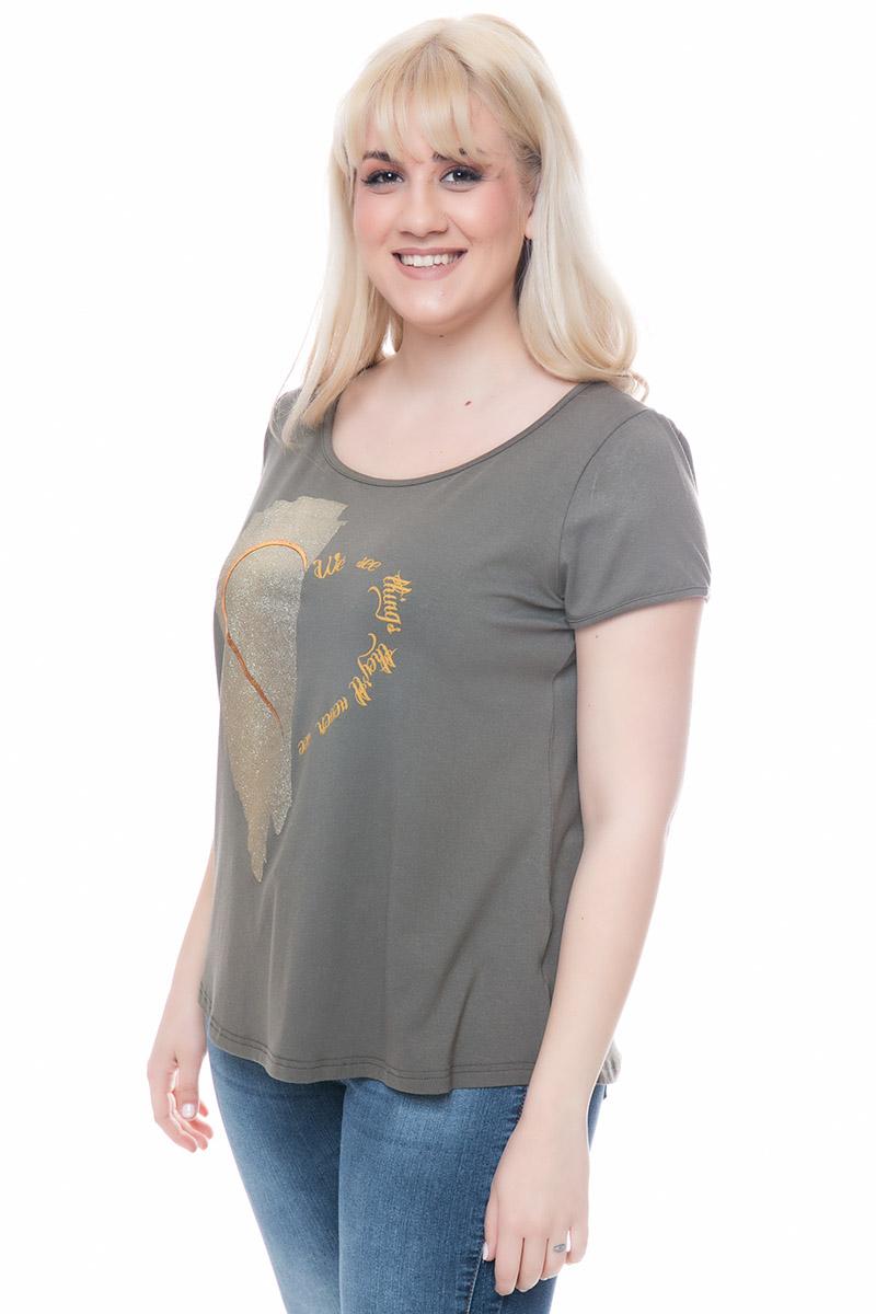 Μπλούζα Χρώμα χακί Κοντά μανίκια Ανοιχτή λαιμόκοψη Ελαστικό ύφασμα Άλφα γραμμή Σύνθεση:92%VIS 8%ΕL Η γραμμή είναι κανονική - επιλέξτε το κανονικό σας μέγεθος.Ιδανικό outfit από το πρωί μέχρι το βράδυ.Διαθέσιμα μεγέθη από Μ έως XΧL.Το μοντέλο έχει ύψος 1.75cm και φοράει μέγεθος Μ.