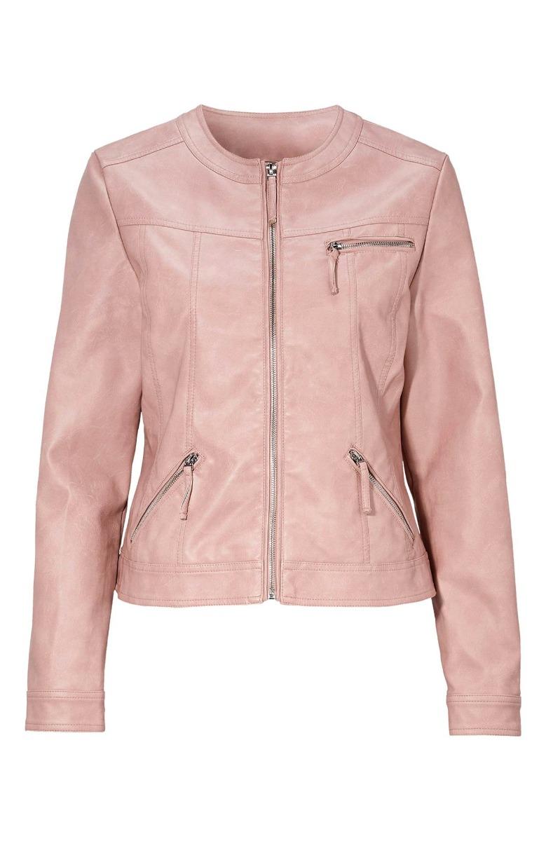 Leather like jacket Κοντό Πούδρα χρώμα Στρόγγυλη λαιμόκοψη 3 Τσέπες Μακριά μανίκια Κλείσιμο με φερμουάρ Ίσια γραμμή Σύνθεση60%POL 40%EL Διαθέσιμα μεγέθη από 38/40 έως 58/60. Το μοντέλο έχει ύψος 1.75cm και φοράει μέγεθος 38/40.