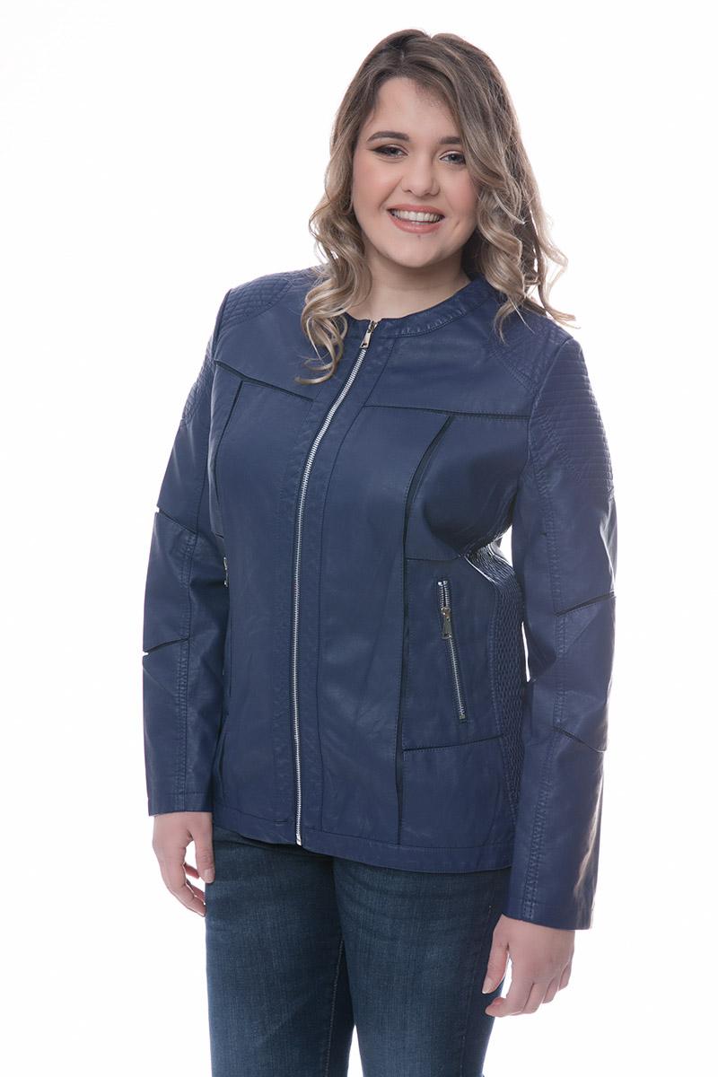 Leather-like jacket Μπλε χρώμα Μακριά μανίκια Με κλειστη λαιμόκοψη Κλείσιμο με φερμουάρ Τσέπεςμε φερμουάρ Διαθέτει φάσες από τούλι Σταθερό ύφασμα Σύνθεση 65%PU 28%COT 7%POL Η γραμμή είναι κανονική - Συμβουλευτείτε το μεγεθολόγιο. Κατάλληλο για όλες τις ώρες και περιστάσεις. Διαθέσιμα μεγέθη από 44 έως 54. Το μοντέλο έχει ύψος 1.75cm και φοράει μέγεθος 44.
