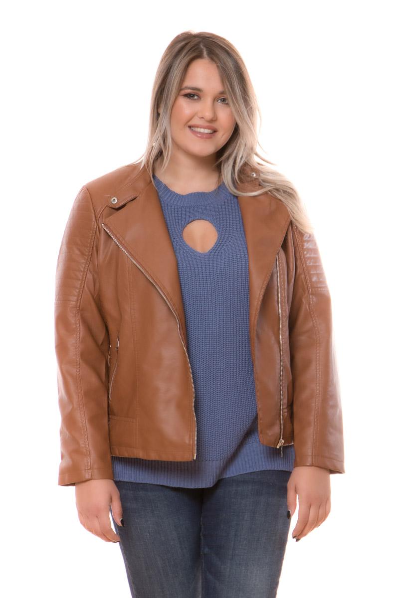Leather like jacket Xρώμα ταμπά Μακριά μανίκια Με κλειστή λαιμόκοψη τύπου μάο Κλείσιμο με λοξό φερμουάρ Τσέπες με φερμουάρ Εσωτερική φόδρα Διακοσμητικές ραφές Διαθέτει satin like επένδυση Σταθερό ύφασμα Σύνθεση100%POL Η γραμμή είναι άνετη - Συμβουλευτείτε το μεγεθολόγιο. Κατάλληλο για όλες τις ώρες και περιστάσεις. Διαθέσιμα μεγέθη από S έως XXL. Το μοντέλο έχει ύψος 1.75cm και φοράει μέγεθος S.