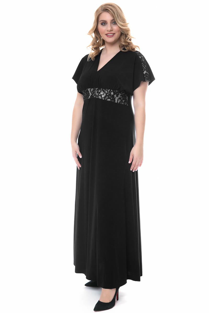 822e5b25d119 Φόρεμα maxi Μαύρο χρώμα Διαθέτει τρέσα με δαντέλα στο μπούστο και στ  μανίκια Φερμουάρ και δέσιμο