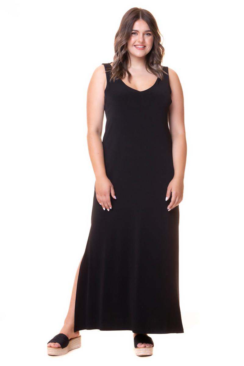 Maxi φόρεμα Είναι αμάνικο Έχει εσωτερικές τσέπες στο πλάι Σκισίματα στο μπροστινό μέρος Το ύφασμα του είναι ελαστικό Έχει V-neck λαιμόκοψη Σύνθεση 94%POL-6%SP Η γραμμή είναι κανονική - επιλέξτε το κανονικό σας μέγεθος. Ιδανικό για ξεχωριστές και chic εμφανίσεις. Διαθέσιμα μεγέθη από S εώς M. Το μοντέλο έχει ύψος 1,75 και φοράει το νούμερο S.