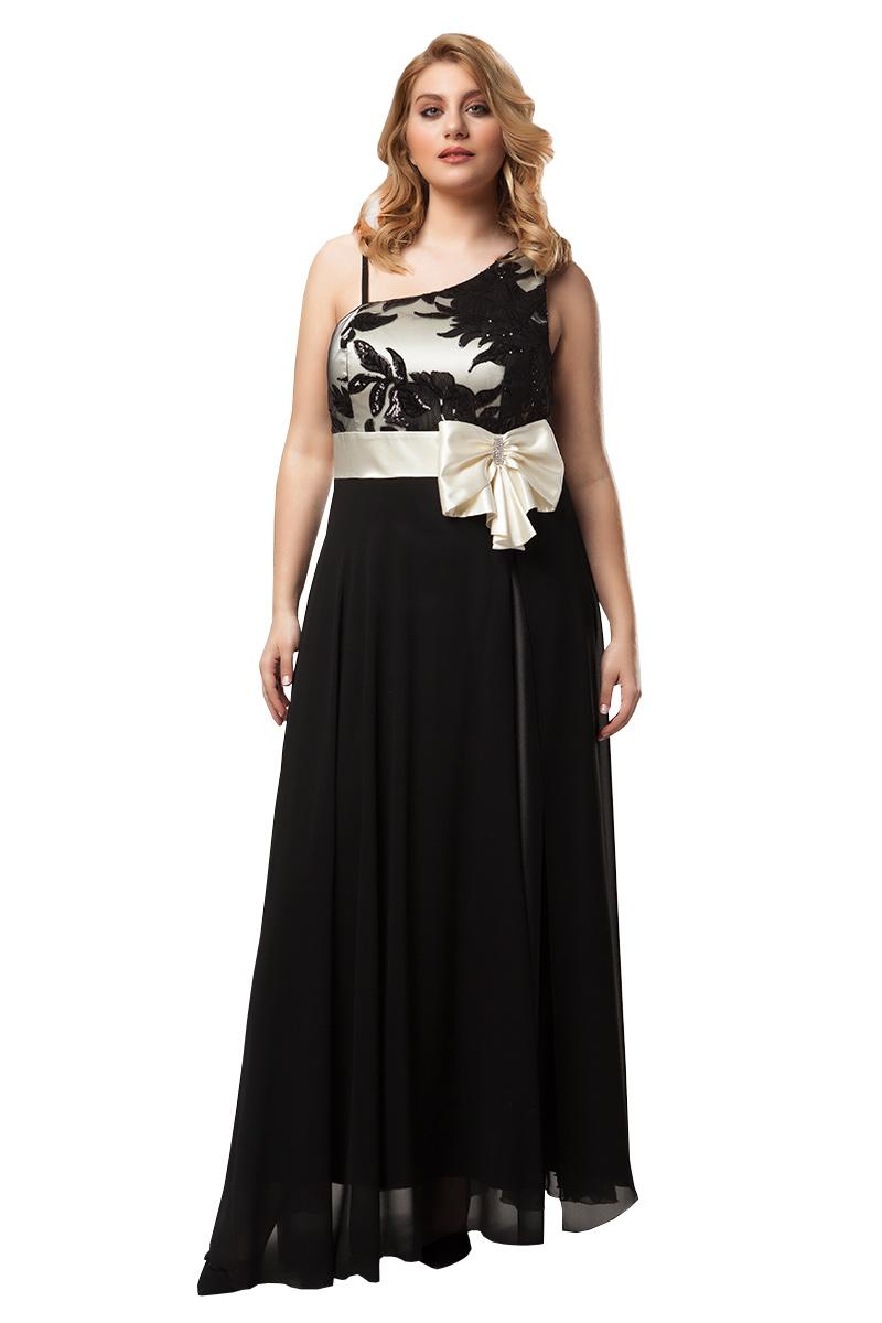 beecb8bbf54f Maxi φόρεμα με παγιέτες στο μπούστο σε μαύρο εκρού χρώμα