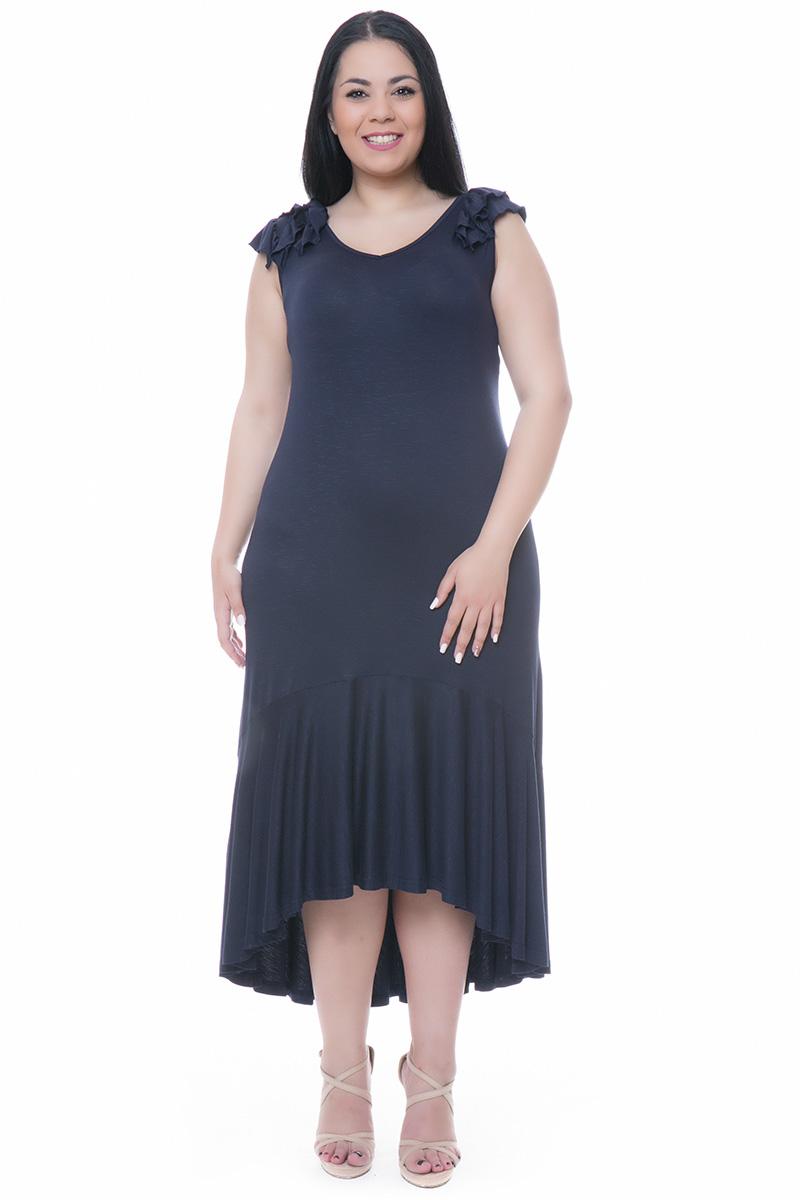 f3b7d2c1c1ec Maxi μπλε φόρεμα με βολάν