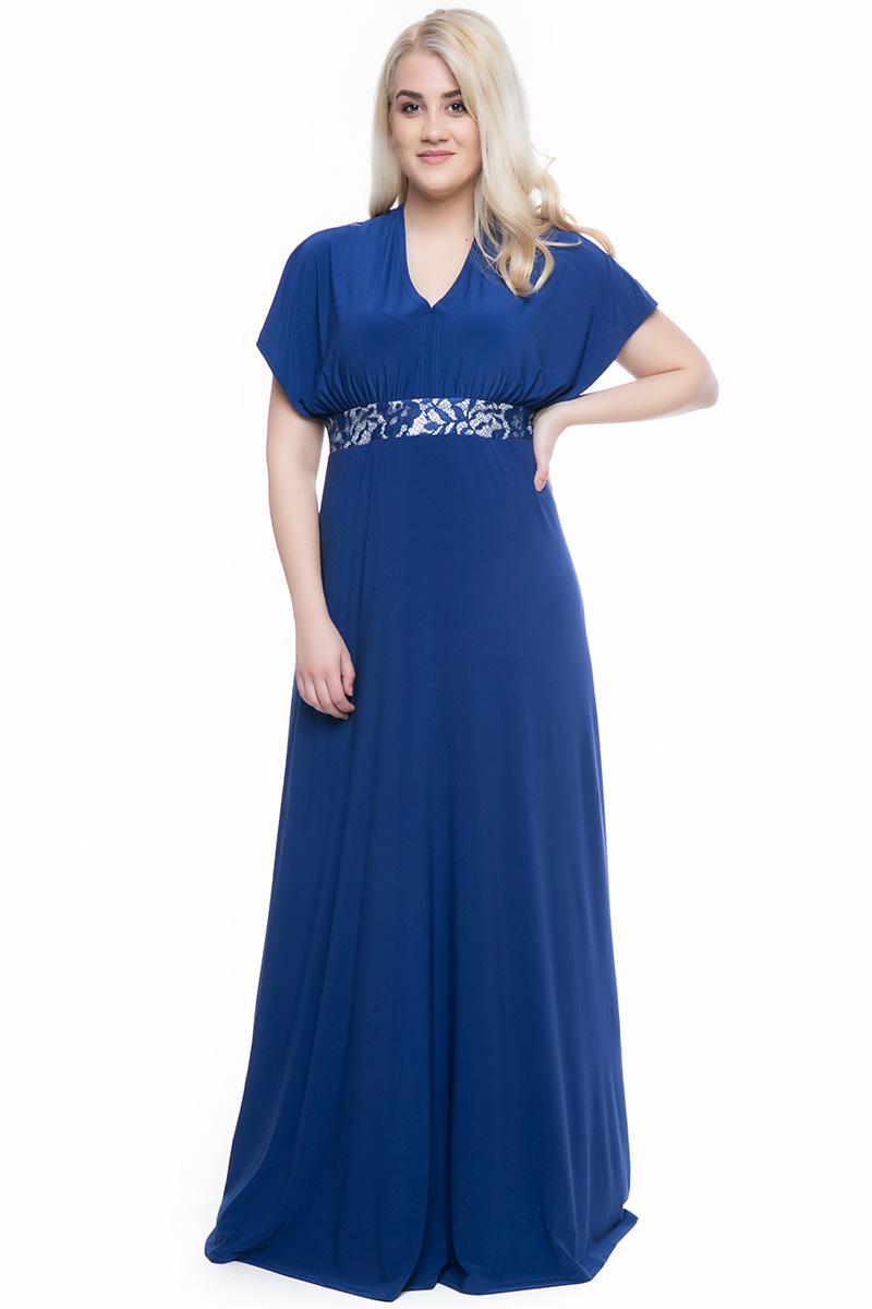 a982ea61498c Φόρεμα maxi Ρουά χρώμα Διαθέτει τρέσα με δαντέλα στο μπούστο και στ μανίκια  Φερμουάρ και δέσιμο
