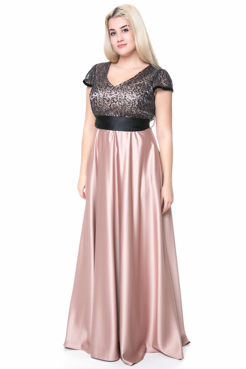 Maxi σατέν φόρεμα με ζώνη σε μαύρο χρυσό χρώμα e2bab9f95f5