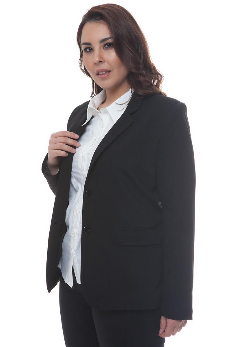 Σακάκι ποντοστόφα Μαύρο χρώμα Έχει μακριά μανίκια Έχει κλασικό γιακά Κλείνει με 2 κουμπιά Μεσάτη γραμμή Ελαστικό ύφασμα Σύνθεση65%RAY 30%NYL 5%ELAS Η γραμμή είναι κανονική - επιλέξτε το κανονικό σας νούμερο. Ένα must have κομμάτι για office looks και όχι μόνο. Διαθέσιμα μεγέθη από S έως XXL. Το μοντέλο έχει ύψος 1.75cm και φοράει μέγεθος S.