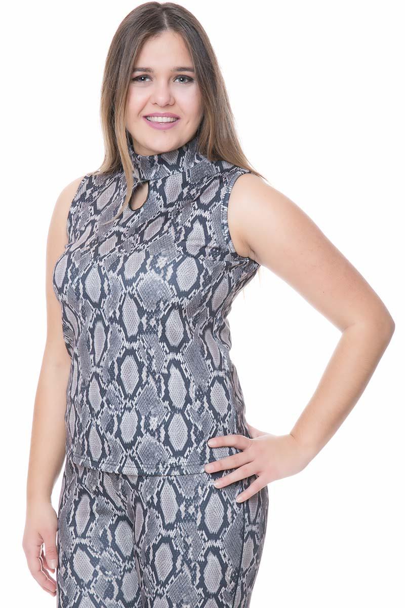 Μπλούζα Silver snakeχρώμα Αμάνικη Λαιμόκοψη λουπέτο Ελαστικό ύφασμα Ίσια γραμμή Σύνθεση95%POL 5%EL Η γραμμή είναι κανονική - επιλέξτε το κανονικό σας μέγεθος.Ιδανικό outfit από το πρωί μέχρι το βράδυ.Διαθέσιμα μεγέθη από ΧS έως XL.Το μοντέλο έχει ύψος 1.75cm και φοράει μέγεθος S.