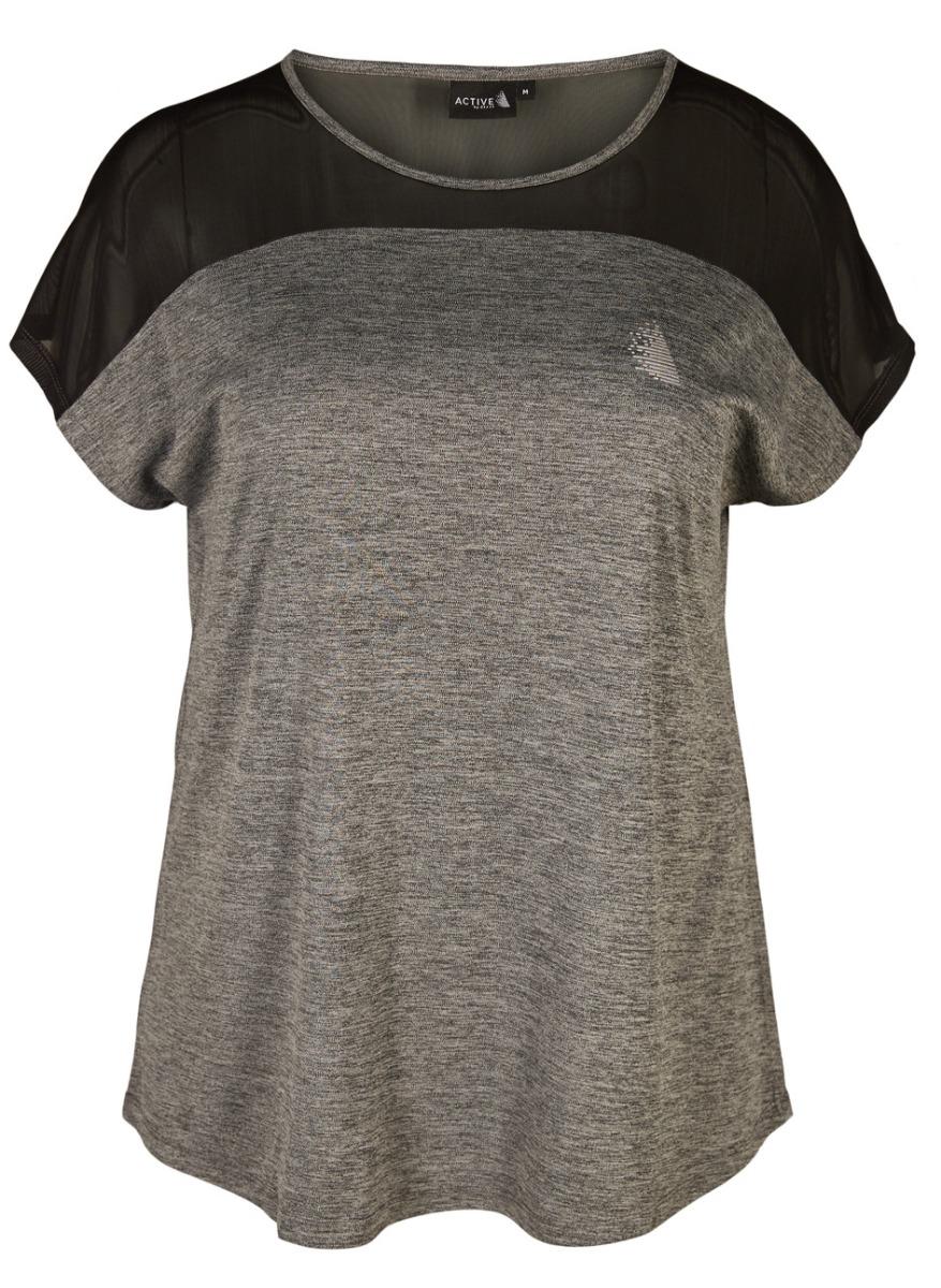 Αθλητική μπλούζα Γκρι χρώμα Μαύρο mesh Κοντά μανίκια Ανοιχτή λαιμόκοψη Ελαστικό ύφασμα Άλφα γραμμή Σύνθεση95%POL 5%EL Η γραμμή είναι άλφα - Επιλέξτε το κανονικό σας νούμερο. Ιδανικό για casual looks. Διαθέσιμα μεγέθη από S έως XL. Το μοντέλο έχει ύψος 1.75cm και φοράει μέγεθος S.