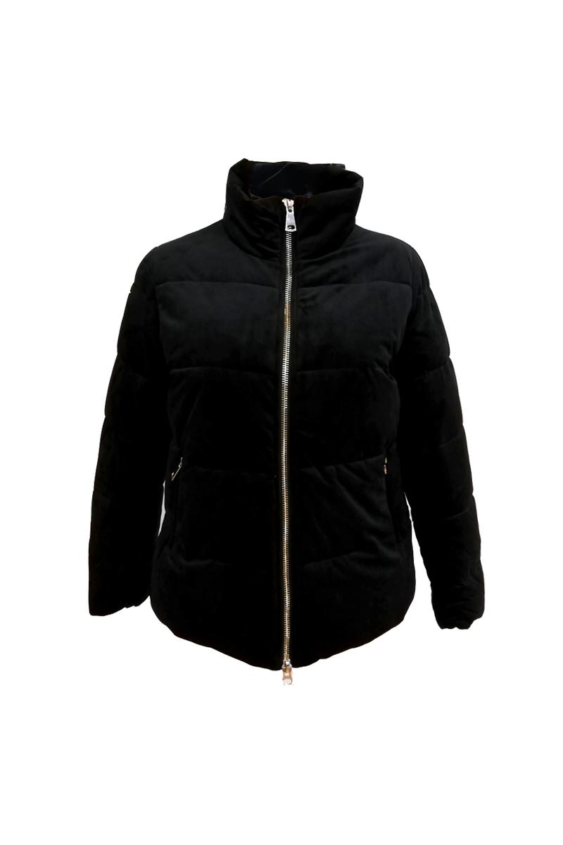 Κοντό μπουφάν Χρώμα μαύρο Έχει σατέν επένδυση Κλείνει με φερμουάρ Δύο τσέπες με φερμουάρ Μακριά μανίκια Ίσια γραμμή Σταθερό ύφασμα Σύνθεση: 100%POL Η γραμμή είναι κανονική - Επιλέξτε το κανονικό σας νούμερο. Ιδανικό για υπέροχα winter outfits. Διαθέσιμα μεγέθη από 38 έως 48.