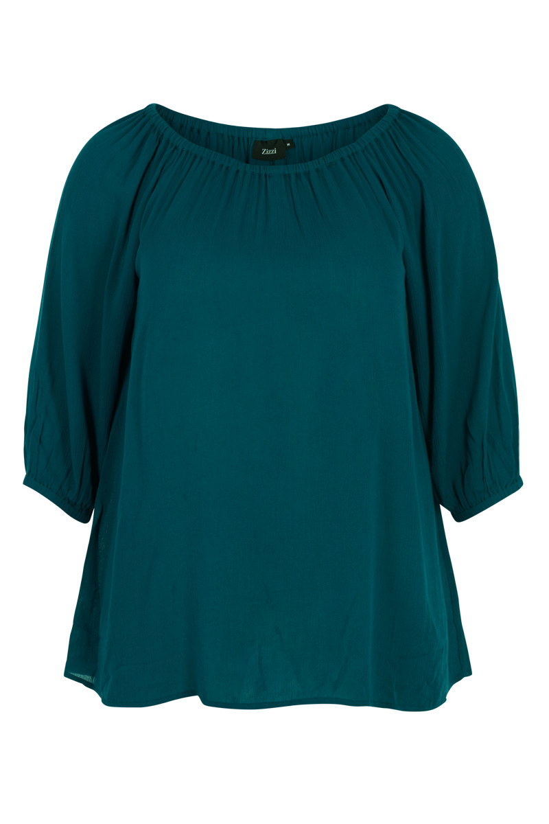 7566b1e14b76 Μπλουζοφόρεμα Πετρόλ χρώμα Off-shoulder μακριά μανίκια Ανοιχτή λαιμόκοψη Α  γραμμή Σταθερό ύφασμα Σύνθεση 100