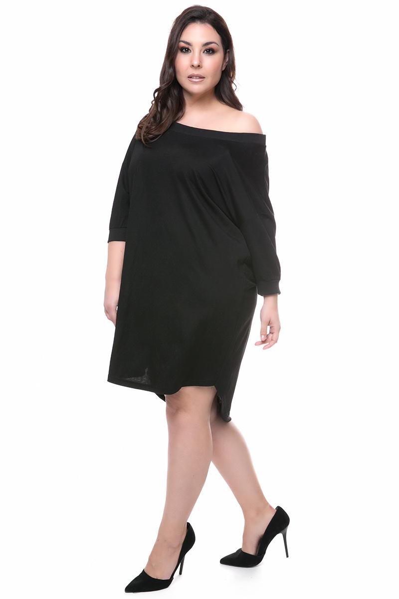 3e96fa99f73e Midi φόρεμα Χρώμα μαύρο Διαθέτει ριπ τελειώματα 3 4 μανίκια Ανοιχτή  λαιμόκοψη τύπου one shoulder