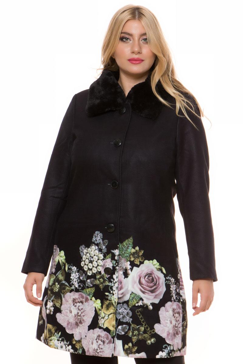 Παλτοζακέτα Μαύρο χρώμα Μακριά μανίκια Κλείνει με κουμπιά Διαθέτει γιακά από οικολογική γούνα Με τσέπες στο πλάι Floral τύπωμα στο τελείωμα του Σατέν φόδρα Άνετη γραμμή Σταθερό ύφασμα Σύνθεση: 100%POL Η γραμμή είναι κανονική - Συμβουλευτείτε το μεγεθολόγιο. Αναδεικνύει κάθε σας outfit. Διαθέσιμα μεγέθη από 38/40 έως 62/64. Το μοντέλο έχει ύψος 1.75cm και φοράει μέγεθος 42/44.