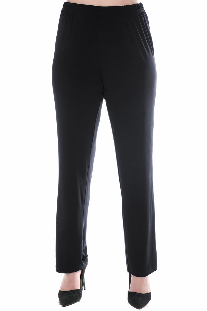 Παντελόνα Μαύρο χρώμα Λάστιχο στην μέση Ίσια γραμμή Σύνθεση95%POL 5%SP Διαθέσιμα μεγέθη από 3 εώς 6. Το μοντέλο έχει ύψος 1.75cm και φοράει μέγεθος 3.